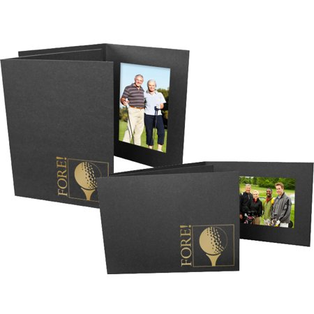 Golf Fore Event 4x6 Horizontal Photo Folders (25 Pack)