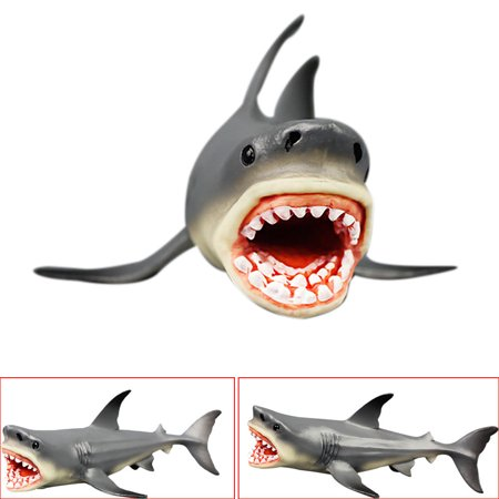 BEAD BEE Megalodon Prehistoric Shark Ocean Education Animal Figure Model Kids Toy Gift (Shark Toys Kids)