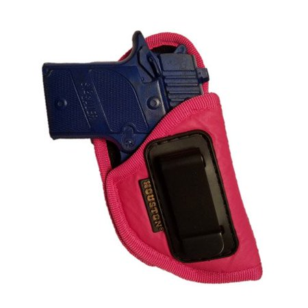 380 Leather Belt Slide Holster - IWB Woman Pink Gun Holster - Houston - ECO LEATHER Concealed Carry Soft | Suede Interior for Protection Fits: GLOCK 42,SIG P 938, 1911 3