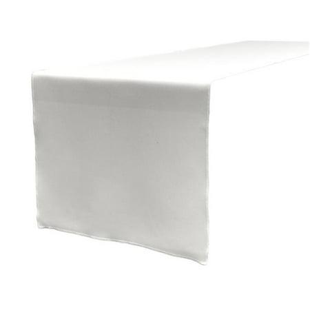 TCpop14x108-WhiteP11 Polyester Poplin Table Runner, White - 14 x 108 in. - image 1 de 1