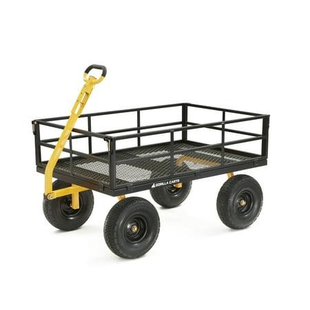 """Gorilla Carts GOR1400-COM 1400-lb. Heavy-Duty Steel Utility Cart, 15"""" Tires"""