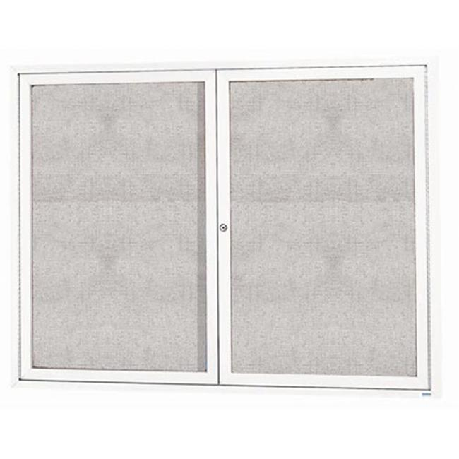 Aarco Products ODCC4860RIW 2-Door Illuminated Outdoor Enclosed Bulletin Board - White