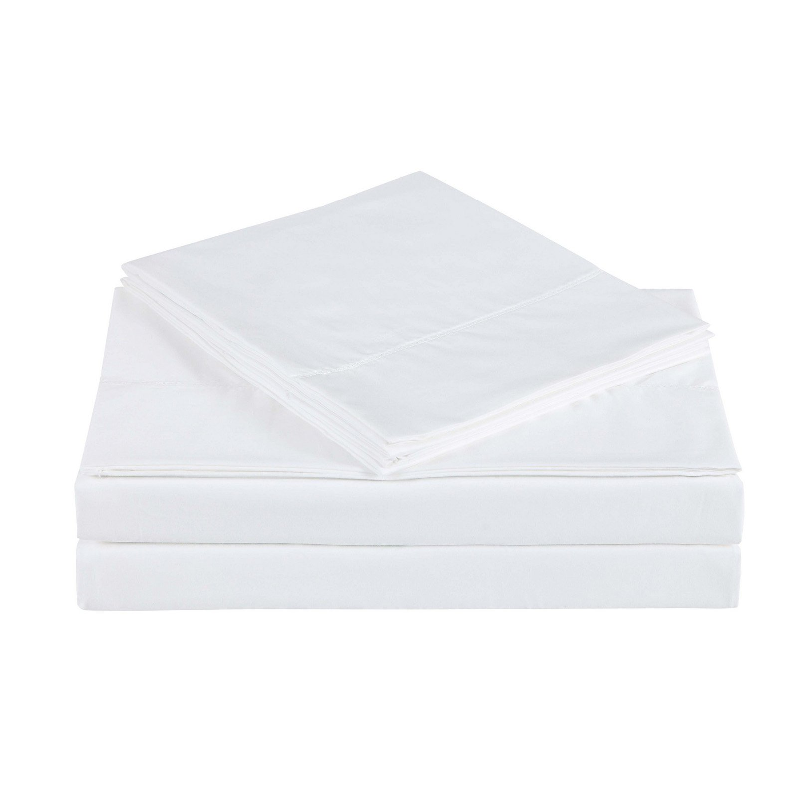 Costco Charisma Sheets White: 610 Thread Count Cotton Solid Bright White Queen Sheet Set