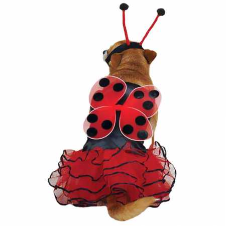 Casual Canine Lucky Bug Costume Red  LARGE
