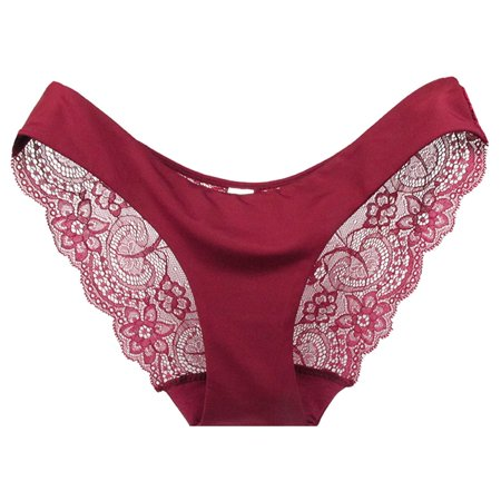 4a0ea5257 ELENXS - Women Ladies Lace Underwear Seamless Panties Sexy Knickers Ladies  Comfort Cotton Briefs Triangle thong - Walmart.com