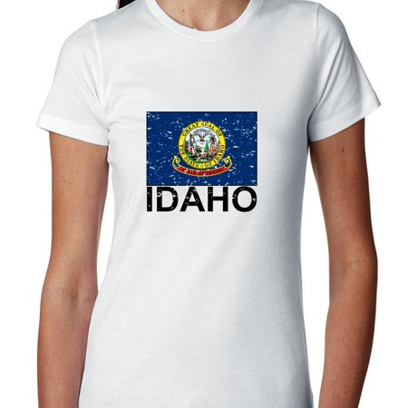Idaho State Flag   Special Vintage Edition Womens Cotton T Shirt
