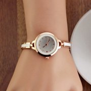 Women Girls Chic Luxury Analog Display Quartz Gold Silver Wrist Watch
