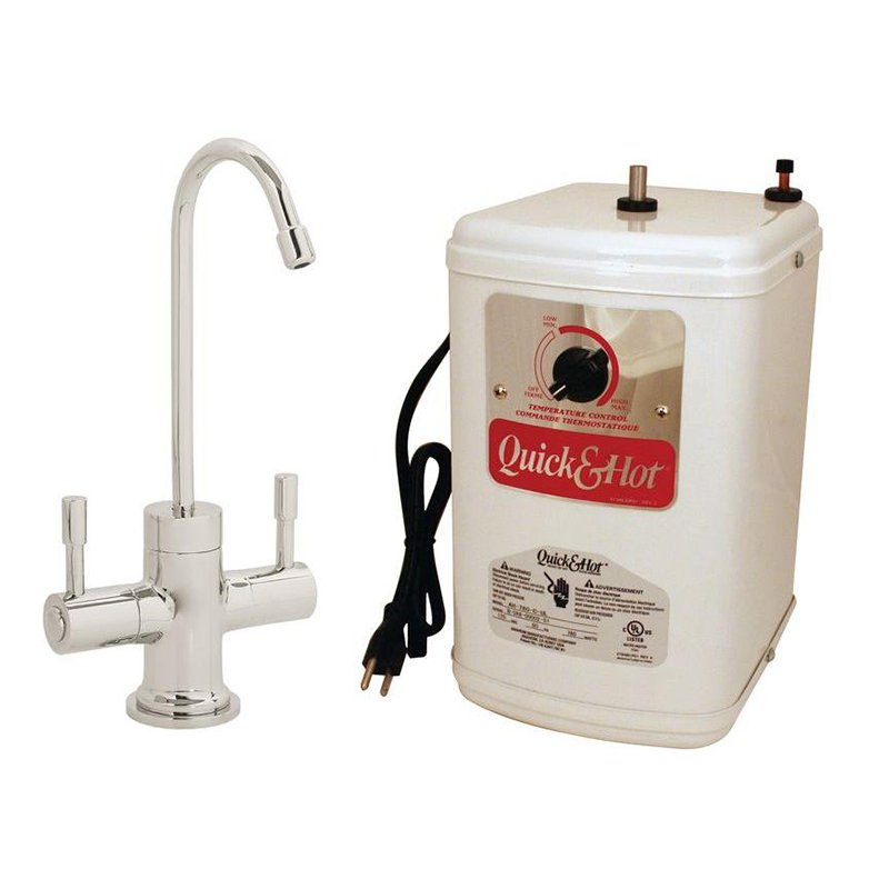 Westbrass D2051H Double Handle Hot/Cold Water Dispenser Faucet with Hot Water Tank