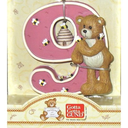 Gund Thinking of You Number 9 Teddy Bear and Bumble Bees Figurine