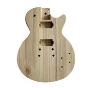 Unfinished Electric Guitar Body Maple Wood Blank Guitar Barrel for Style Bass Guitars DIY Parts
