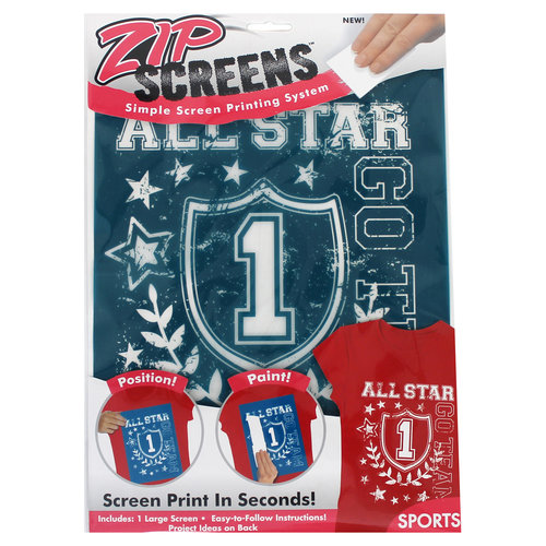 Zip Screen, Large Sports