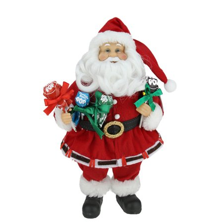 Northlight Seasonal Santa Claus Holding Tootsie Pops Christmas Tabletop Decoration - Santa Pop
