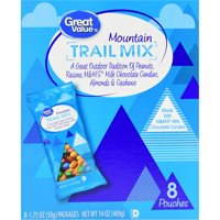 Great Value Mountain Trail Mix, 1.75 Oz., 8 Count