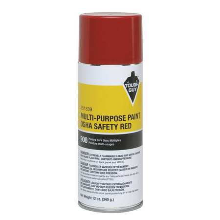 Tough Guy 4WGC6 OSHA Safety Red Spray Paint (Safety Spray)