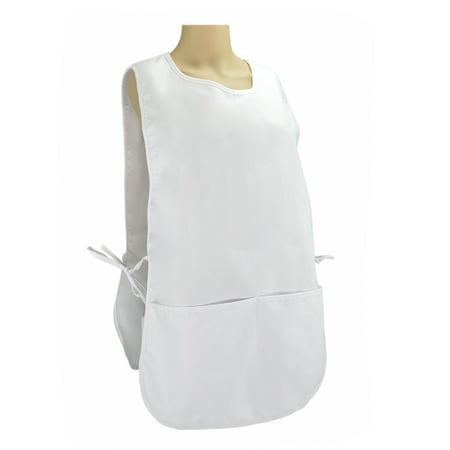 dalix cobbler apron 2 pockets smock regular double sided aprons 28 5 x 18 5 in white. Black Bedroom Furniture Sets. Home Design Ideas