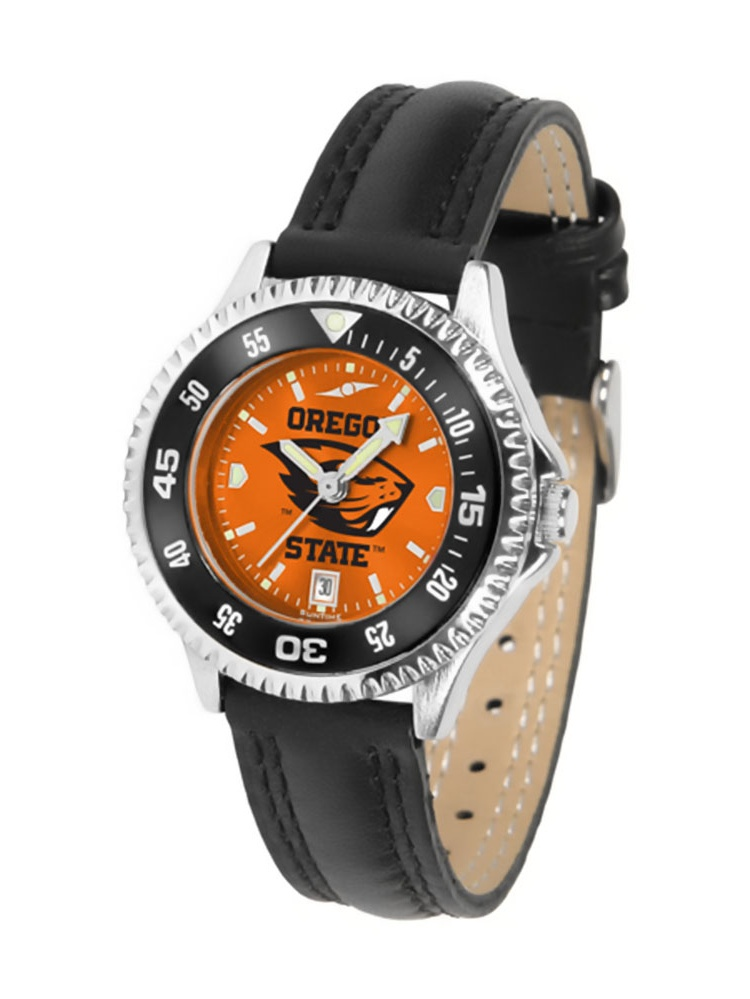 "Oregon State Beavers NCAA Anochrome ""Competitor"" Women's Watch (Poly/Leather Band)"