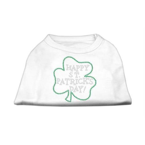Happy St. Patrick's Day Rhinestone Shirts White M (12)