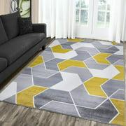 A2Z Monaco 1943 New Geometric Modern Soft Medium Living Room Area Rug Tapis Carpet (5x7 7x9 8x10)