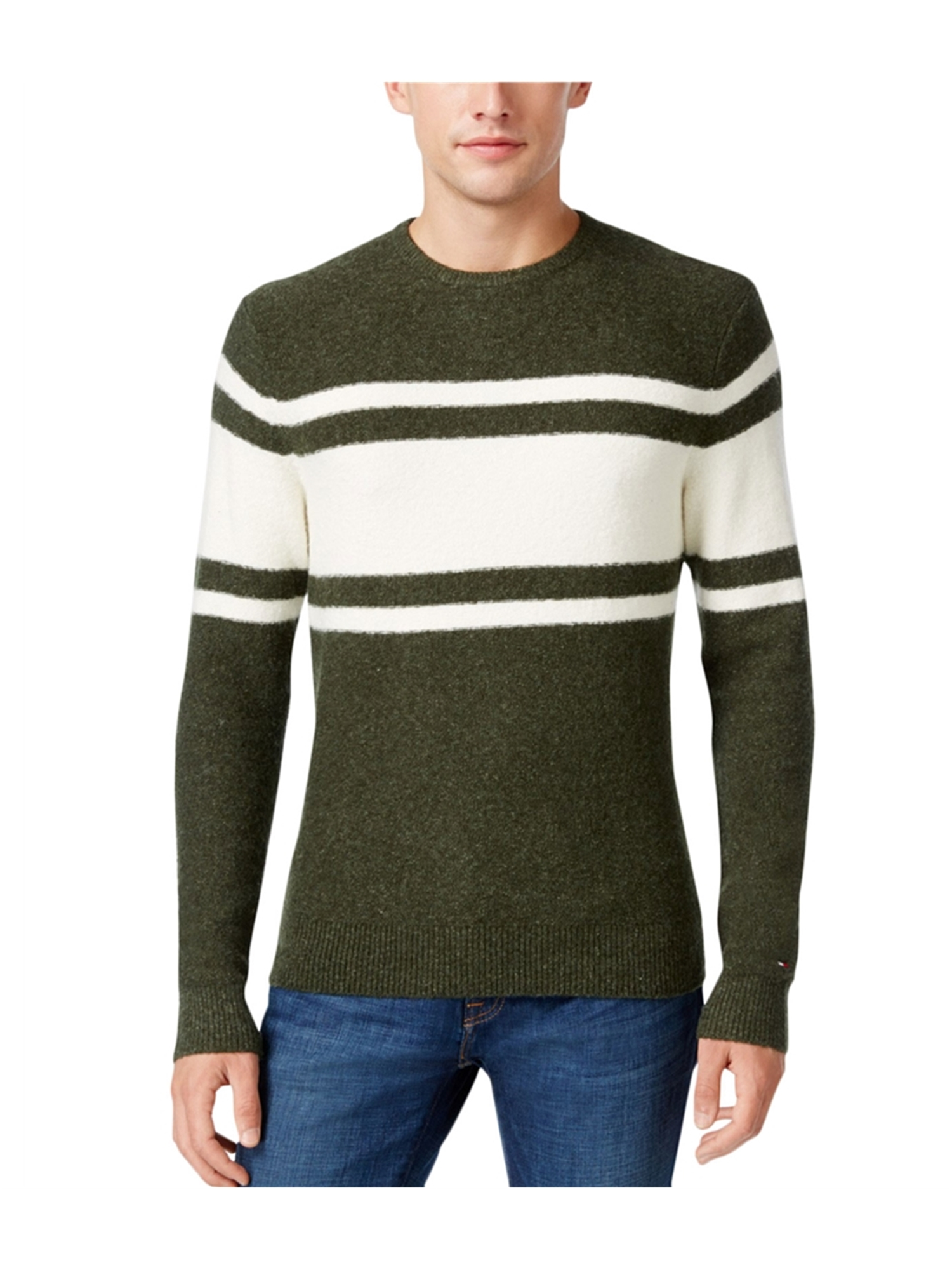 e10672231 Tommy Hilfiger Mens Striped Pullover Sweater 351 XL