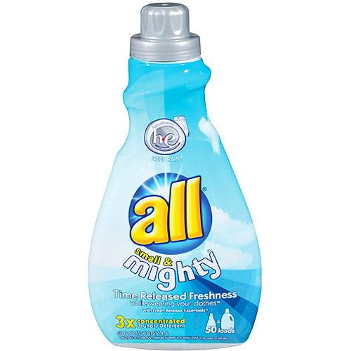 All Small & Mighty Liquid Laundry Detergent, Fresh Rain, 50 oz
