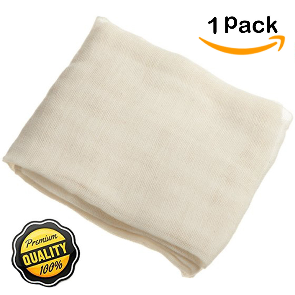 Natural Ultra Fine 100% Cotton Cheesecloth, Unbleached and Reusable, Filter or Strainer for Cheese  Kombucha scoby  Glass jar  Wine making,... by