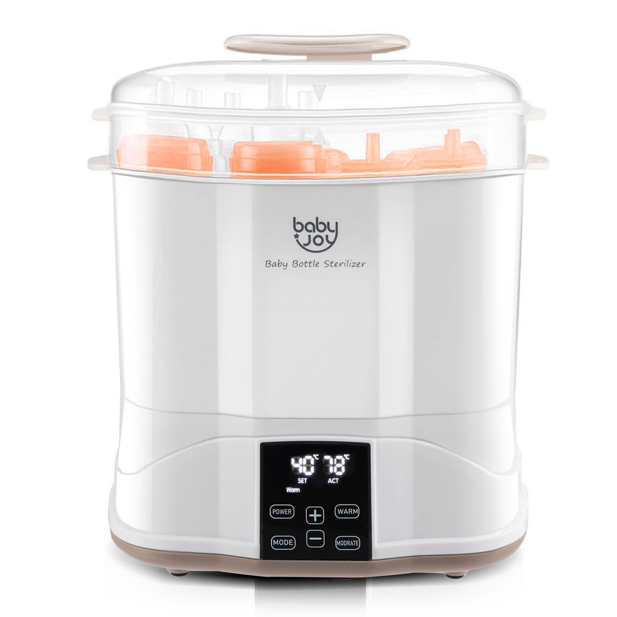 Costway Baby Bottle Electric Steam Sterilizer Dryer Machine Warmer Milk With LED Monitor