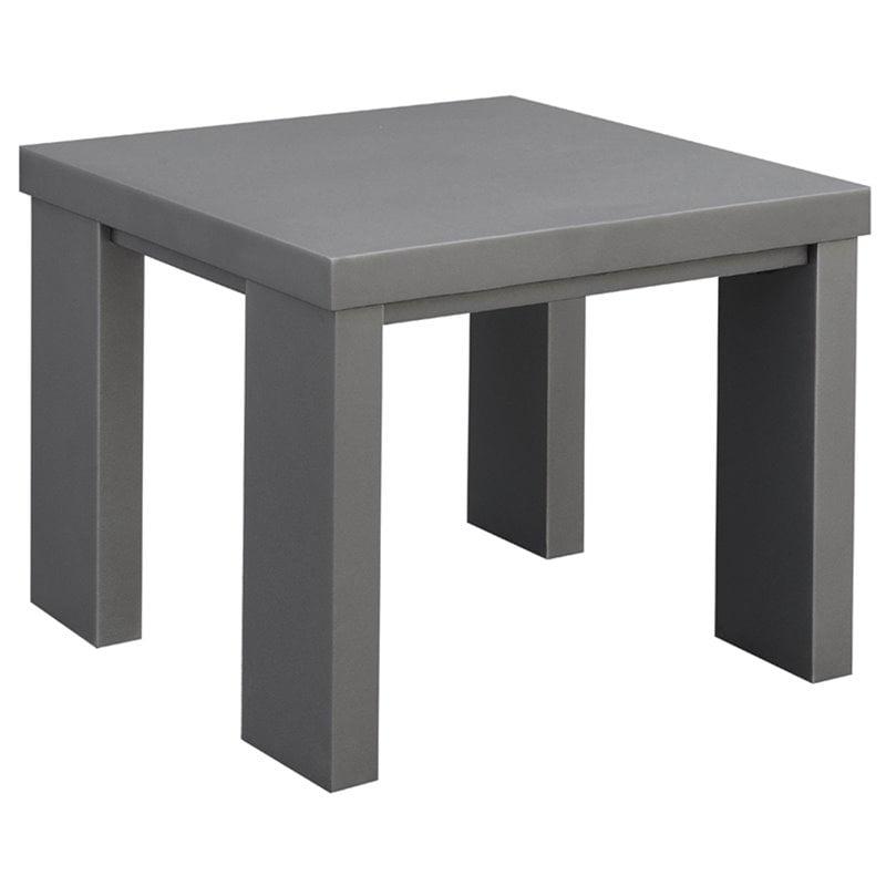 Gonda Modern Square Patio End Table
