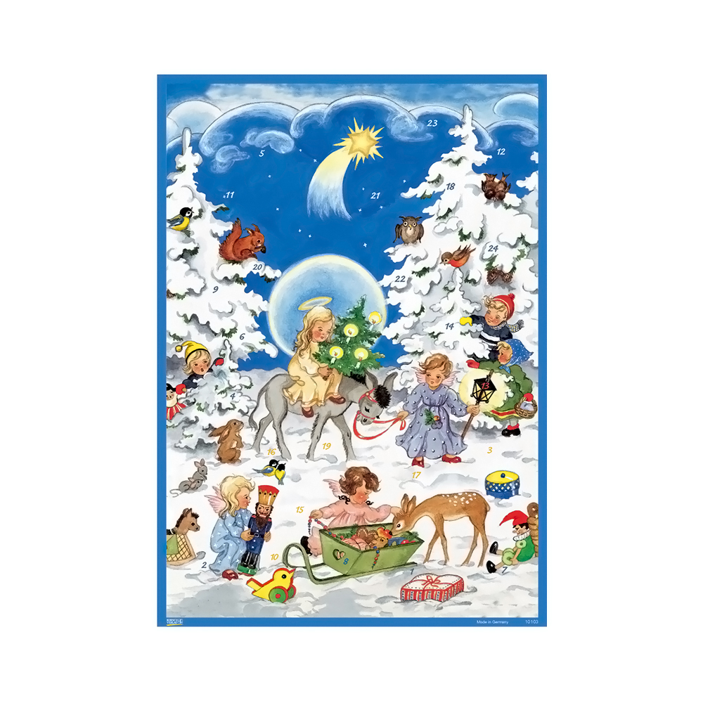 "Alexander Taron Korsch Advent Angels With Children 11.5""""H X 8""""W X .1""""D"