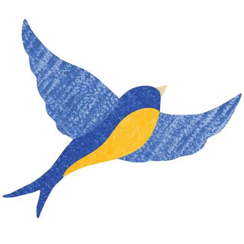 My Wonderful Walls Giant Blue Bird Wall Stickers