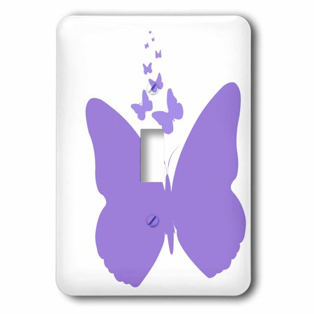 3dRose Purple Butterflies - Nature Whimsy - Art - Single Toggle Switch (lsp_49863_1)