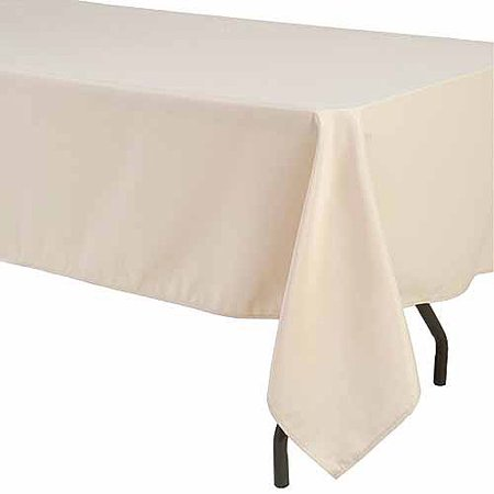 Shindigz Rectangular Polyester - White Rectangle Tablecloth