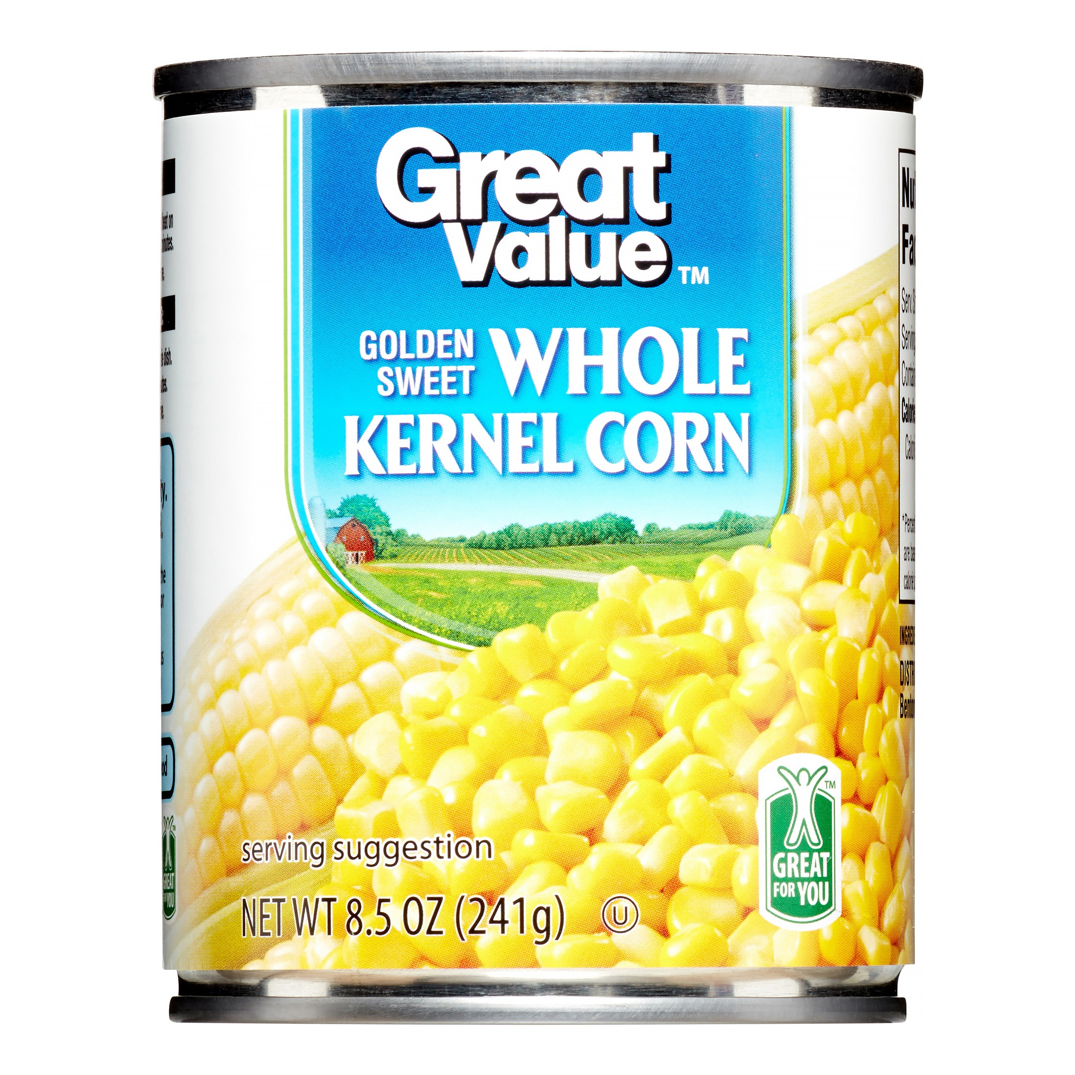 Great Value Golden Sweet Whole Kernel Corn, 8.5 oz