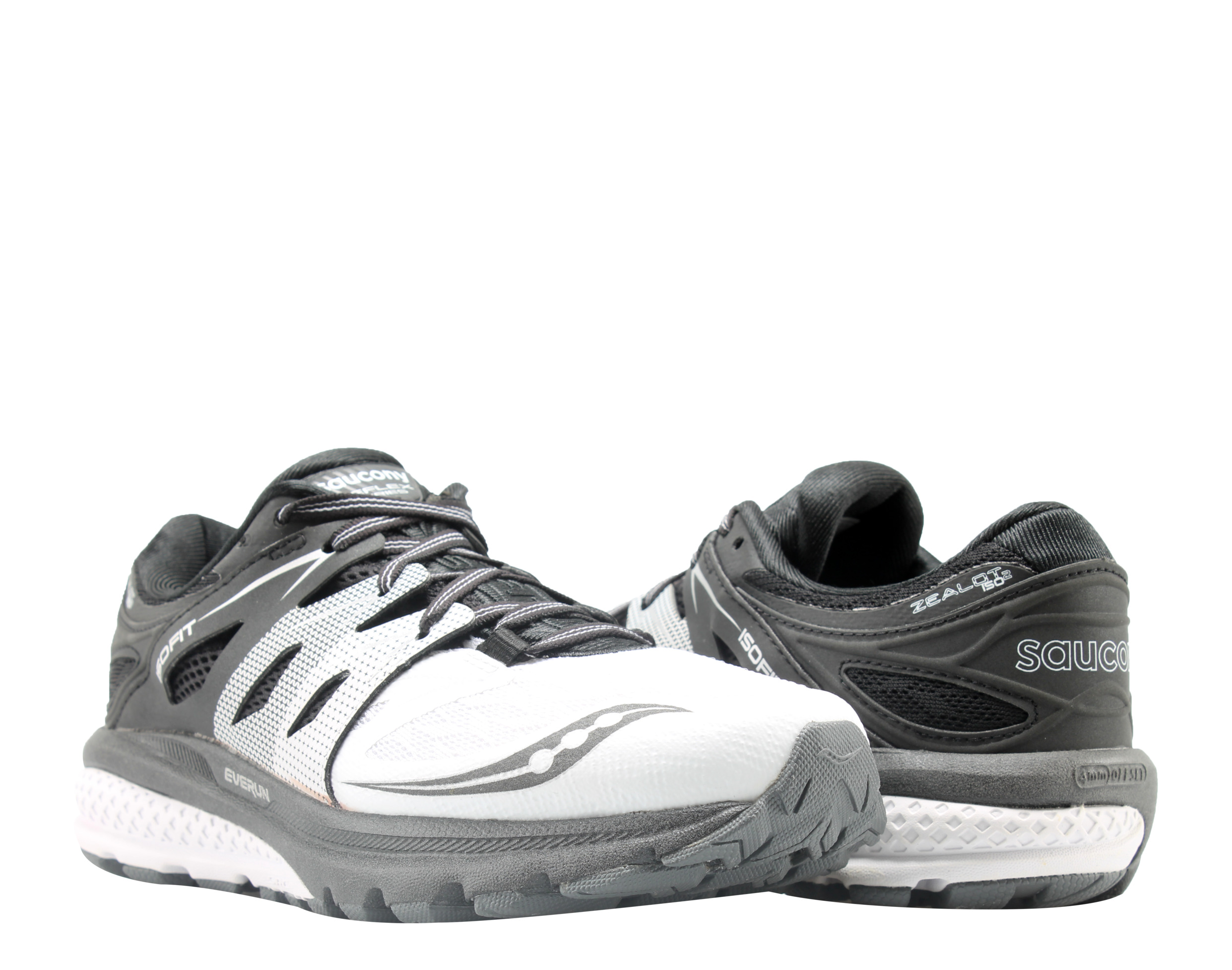 Saucony Zealot ISO 2 Reflex White Black Silver Women's Running Shoes S10332-1 by