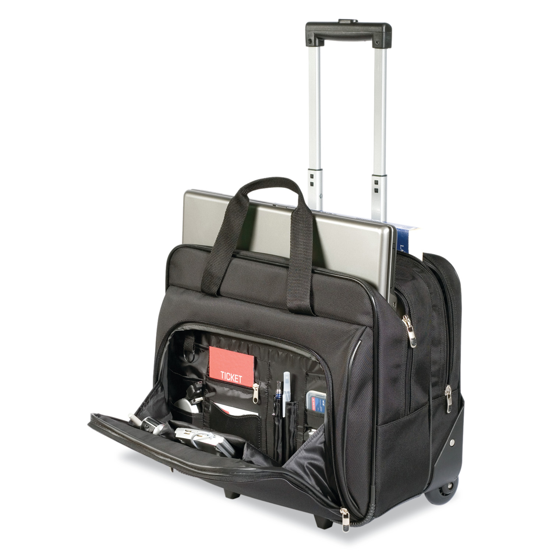 Targus Rolling Laptop Case, 1200D Polyester, Black - Walmart.com