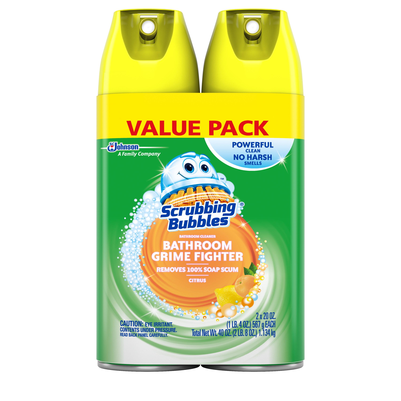 Scrubbing Bubbles Bathroom Grime Fighter Aerosol Citrus Ounces - Best bathtub cleaner ratings