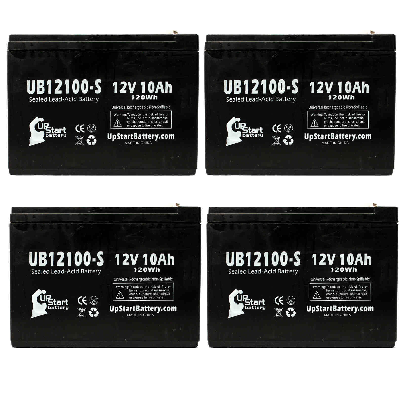 3 Pack Replacement for B /& B Battery BP10-12 Battery 12V, 10Ah, 10000mAh, F2 Terminal, AGM, SLA Replacement UB12100-S Universal Sealed Lead Acid Battery