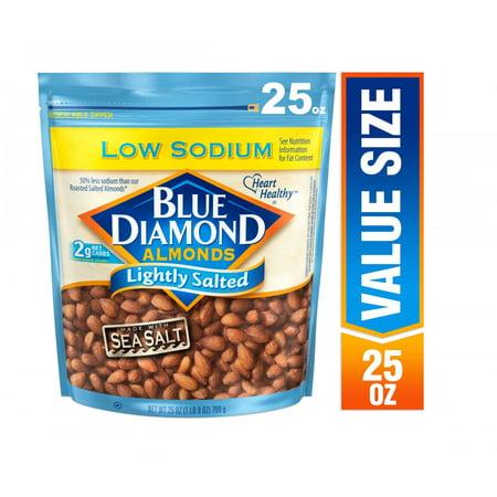 Blue Diamond Almonds Lightly Salted with Sea Salt Almonds, 25 Oz.