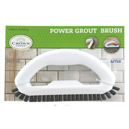 Grout Cleaner Brush with Stiff Angled Bristles. Best Scrub Brushes for Shower Cleaning, Scrubbing Floor Lines and Tile Joints | Bathroom, Showers, Tiles, Seams Grout