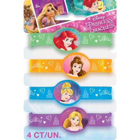Disney Princess Rubber Bracelet Party Favors, Assorted,
