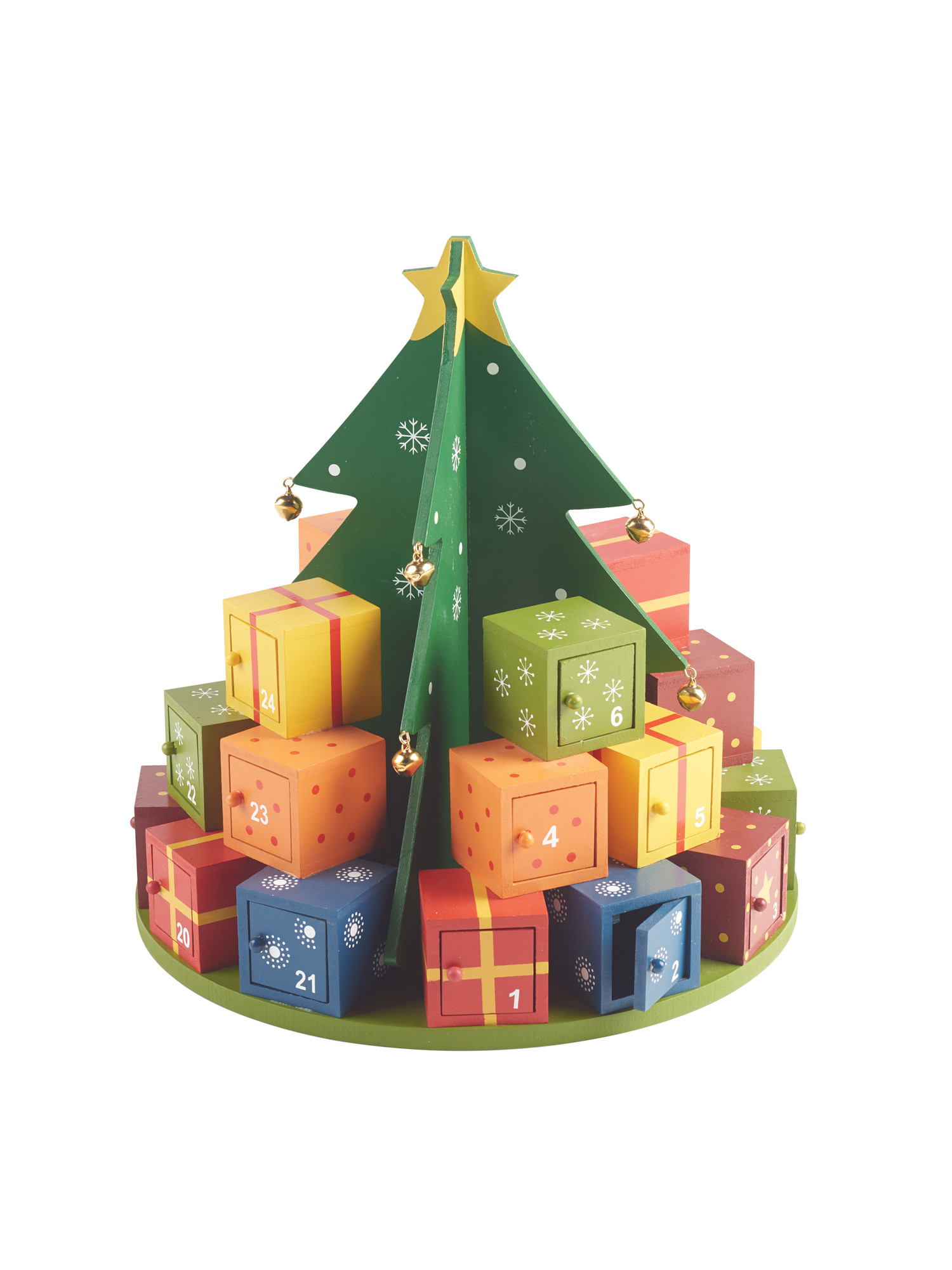 Art Artifact Christmas Tree Advent Calendar 3d Wooden Stand Up Christmas Countdown Evergreen Tree With 24 Numbered Gift Boxes Holiday Home Decor Walmart Com Walmart Com