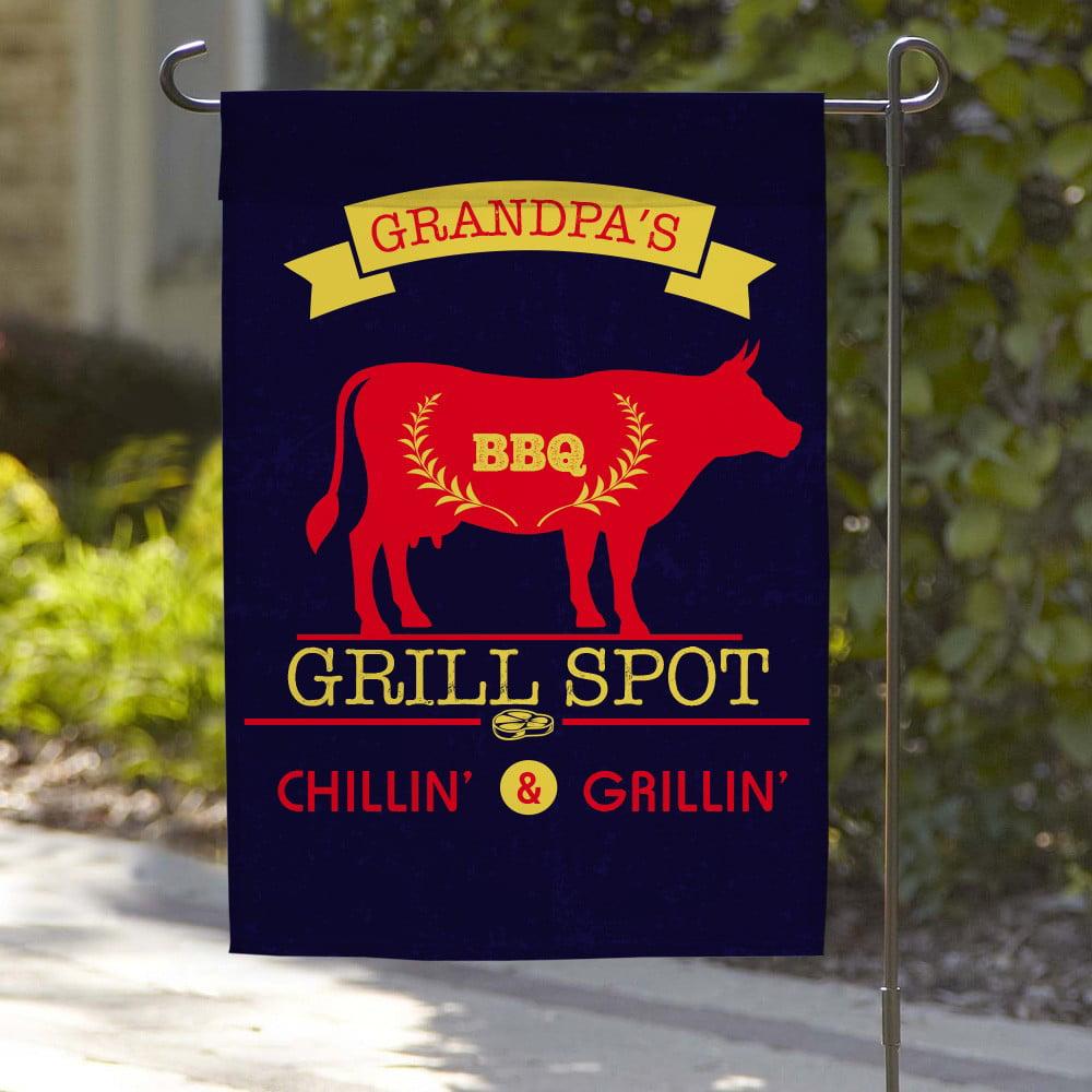 Chillin & Grillin Custom Garden Flag