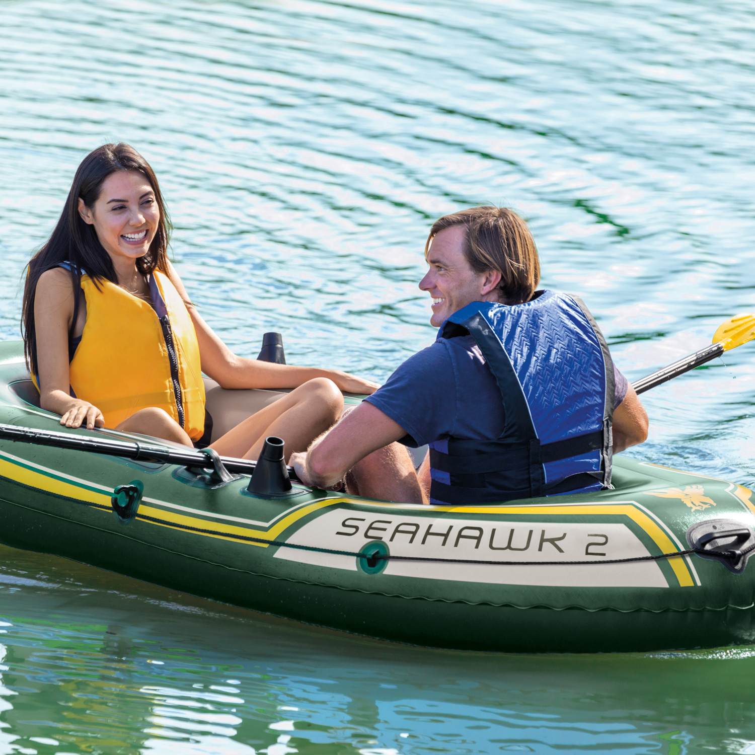 "Intex Seahawk 2 Two-Person Inflatable Boat, 93"" x 45"" x 16"""