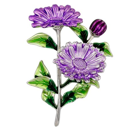 Fancyleo 3 Colors High Quality Romantic Elegant Enamel Daisy Flower Brooch Pins And Brooches For Women Banquet Party Hijab Pins Jewelry Enameled Flower Brooch
