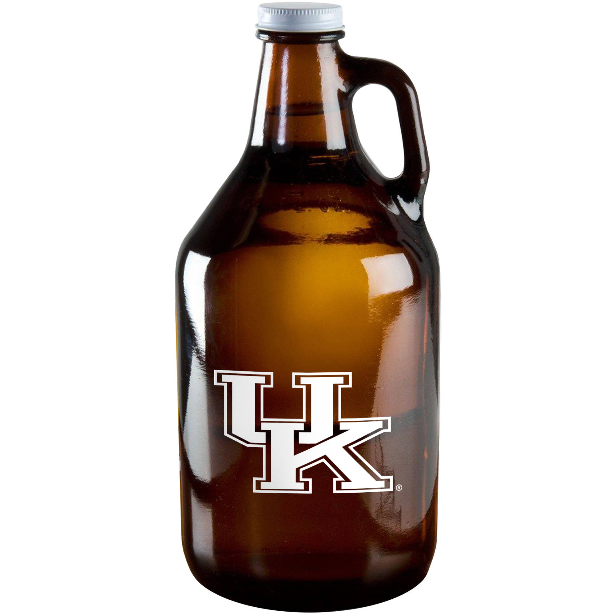 Boelter Brand NCAA 64-Ounce Amber Growler Glass, University of Kentucky Wildcats