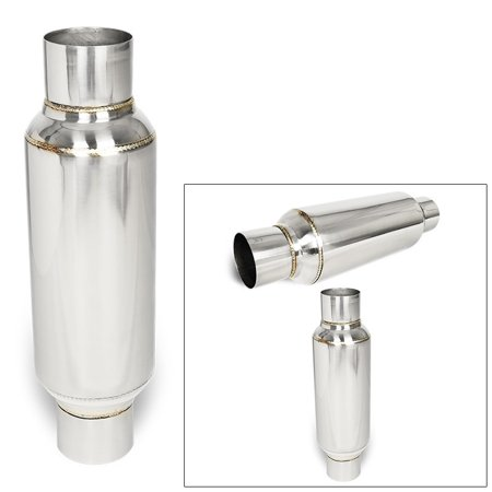 2.5 In/Out Pair Stainless Steel 10 inch Glass Pack Muffler Resonator Universal