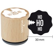 "Woodies Mounted Rubber Stamp 1.35""-Ho Ho Ho"