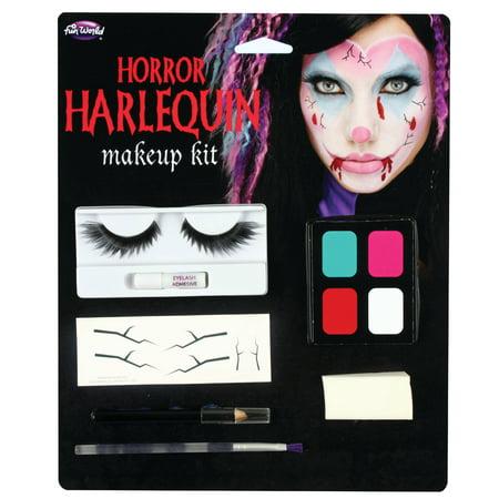 Halloween White Face Makeup Ideas (Halloween Harloquin Makeup Kit by Fun)