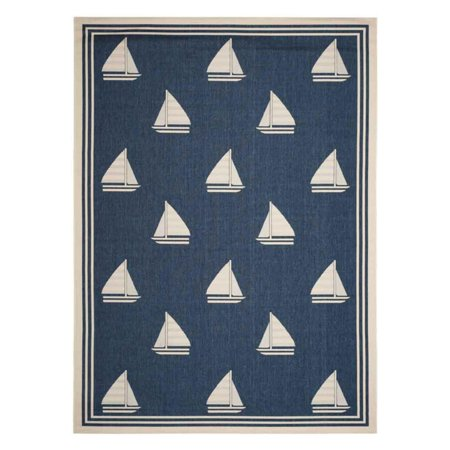Safavieh Courtyard Ainsley Nautical Indoor Outdoor Area Rug Or Runner
