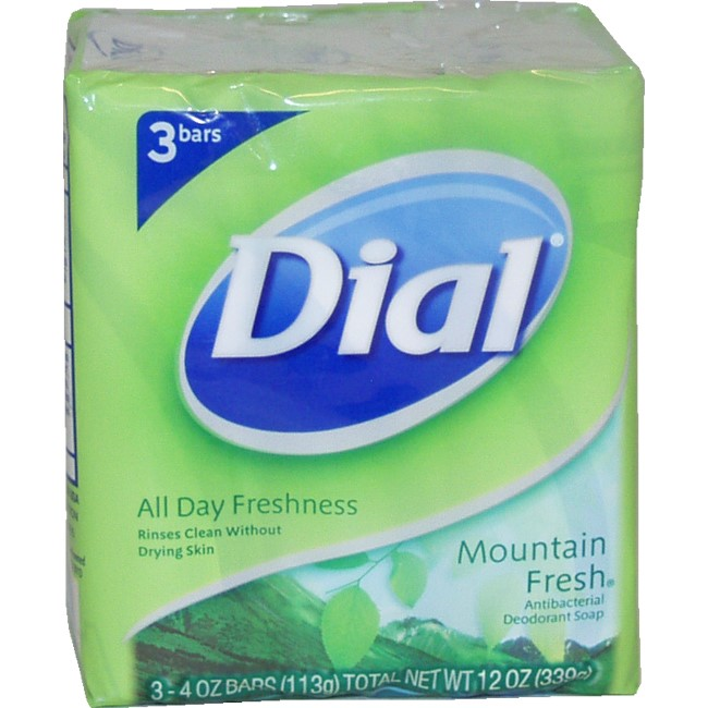 Dial 'Mountain Fresh' 4-ounce Antibacterial Deodorant Soap 3pk