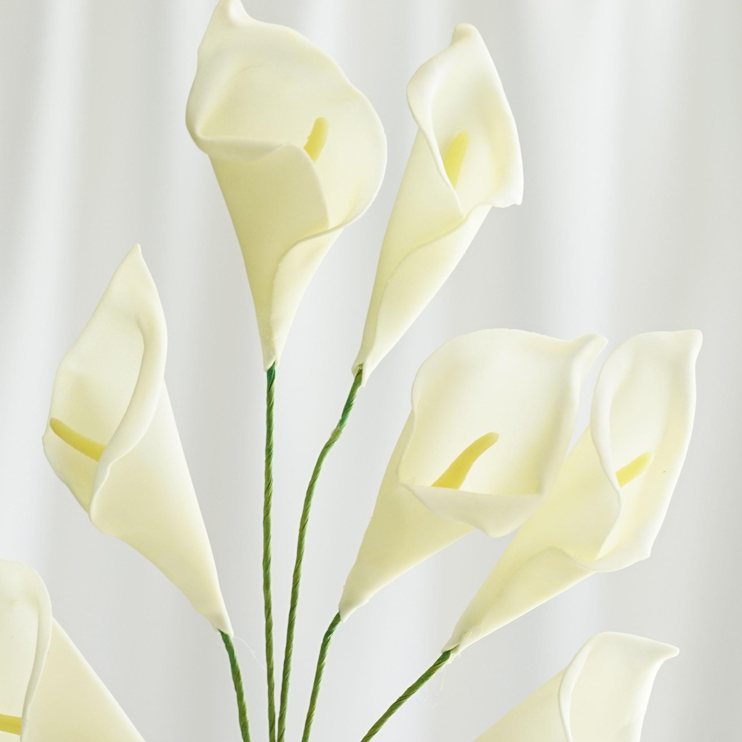 Balsacircle 42 calla lily artificial silk flowers diy home wedding balsacircle 42 calla lily artificial silk flowers diy home wedding party bouquets arrangements centerpieces walmart izmirmasajfo